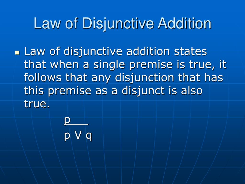 Law of Disjunctive Addition