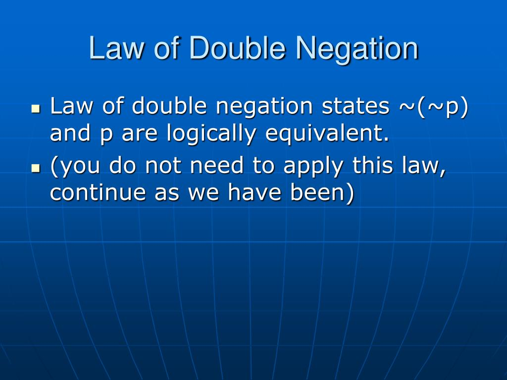 Law of Double Negation