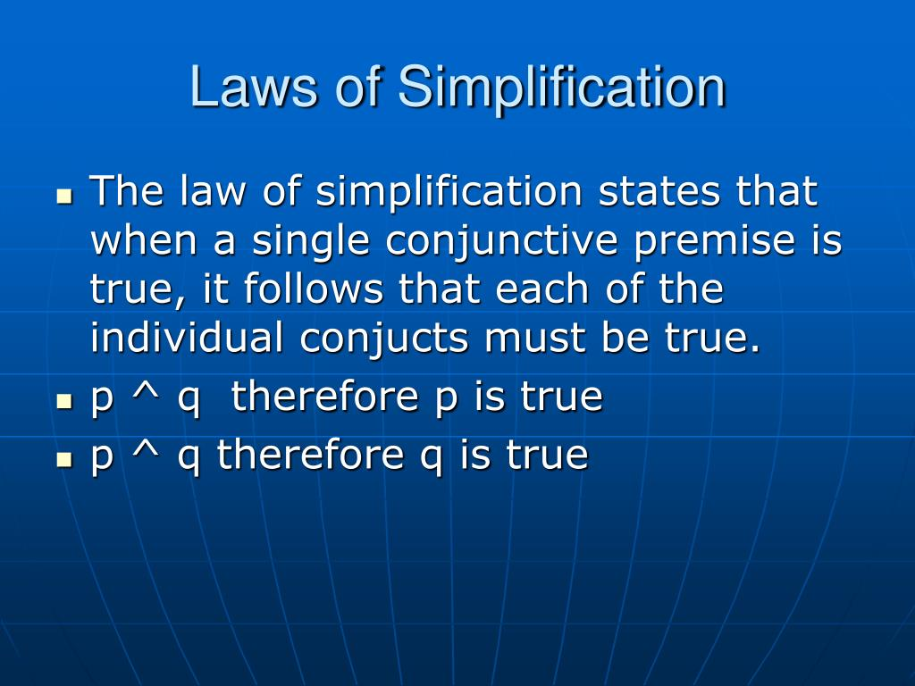 Laws of Simplification
