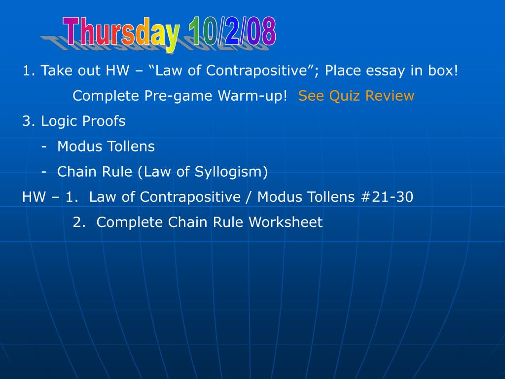 Thursday 10/2/08