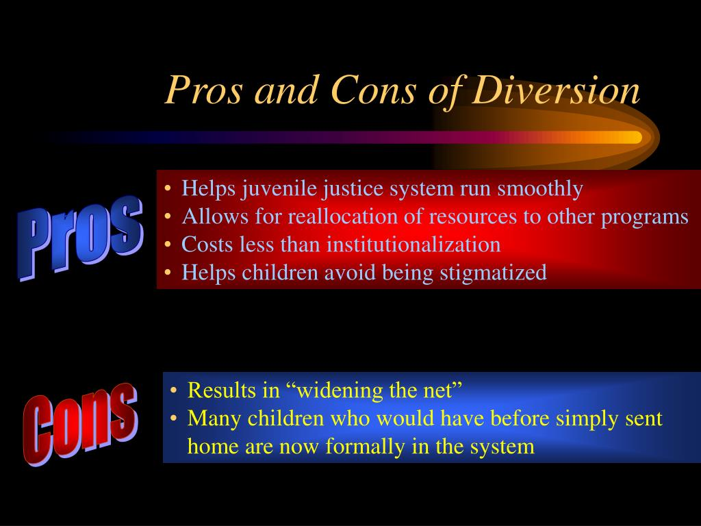 Pros and Cons of Diversion