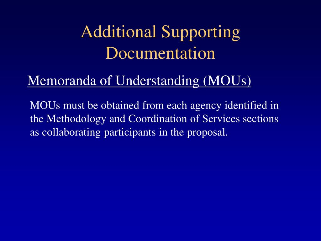 Additional Supporting Documentation