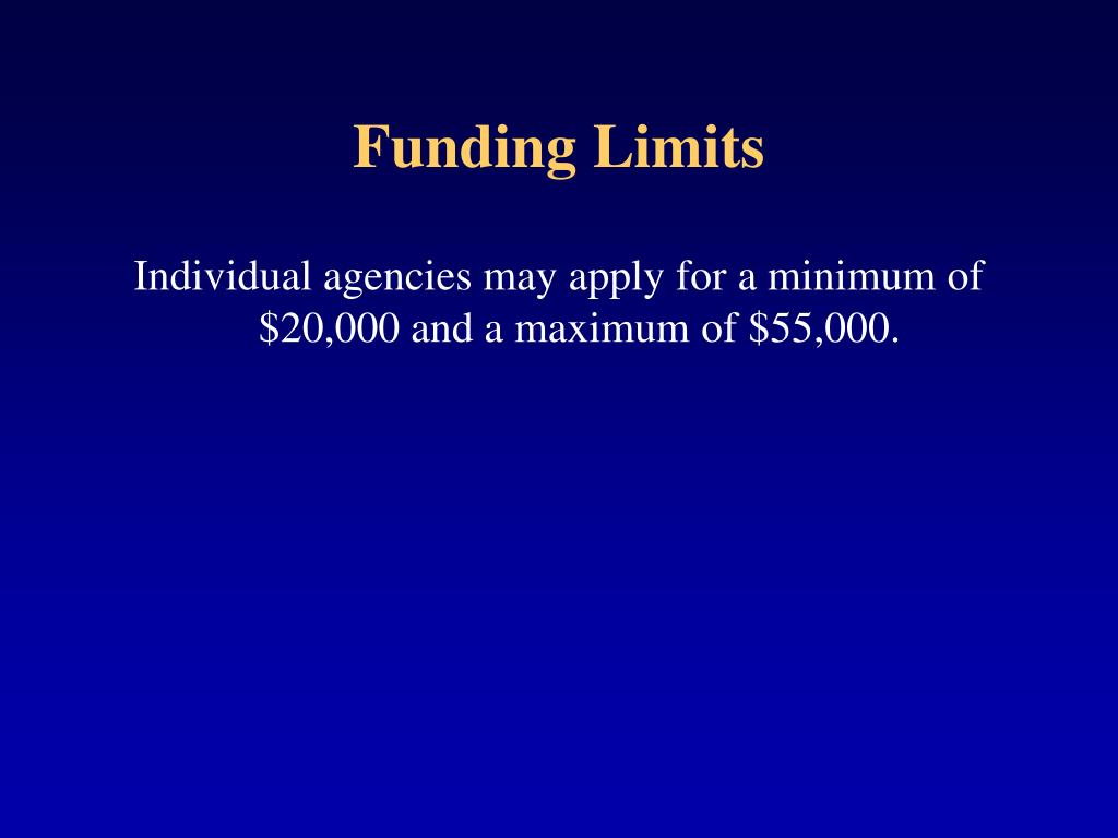 Funding Limits