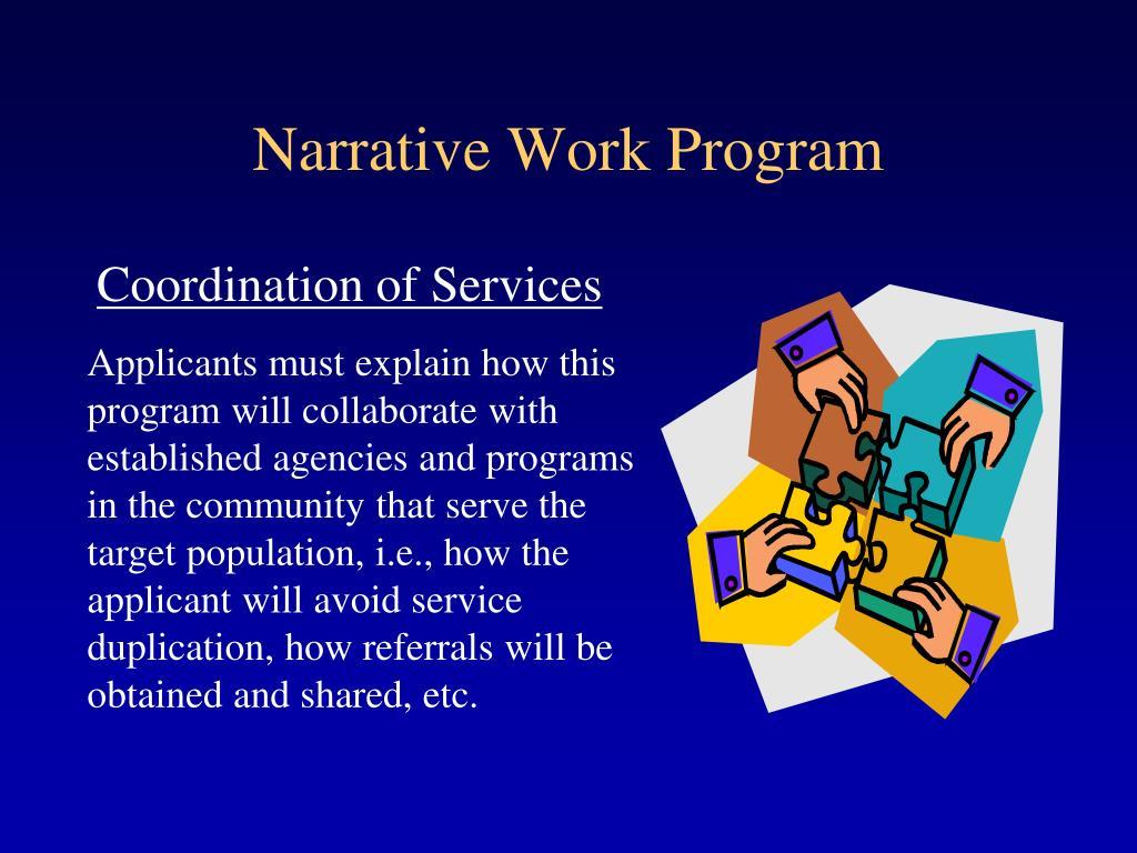 Narrative Work Program