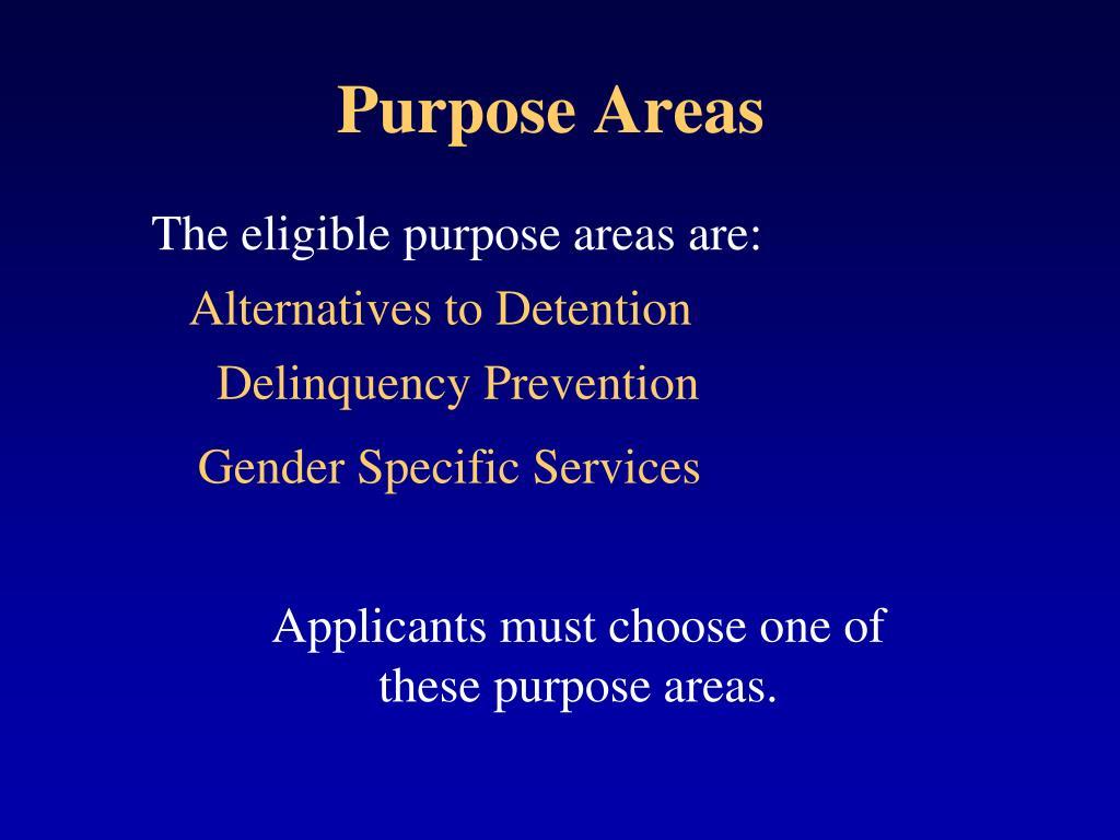Purpose Areas