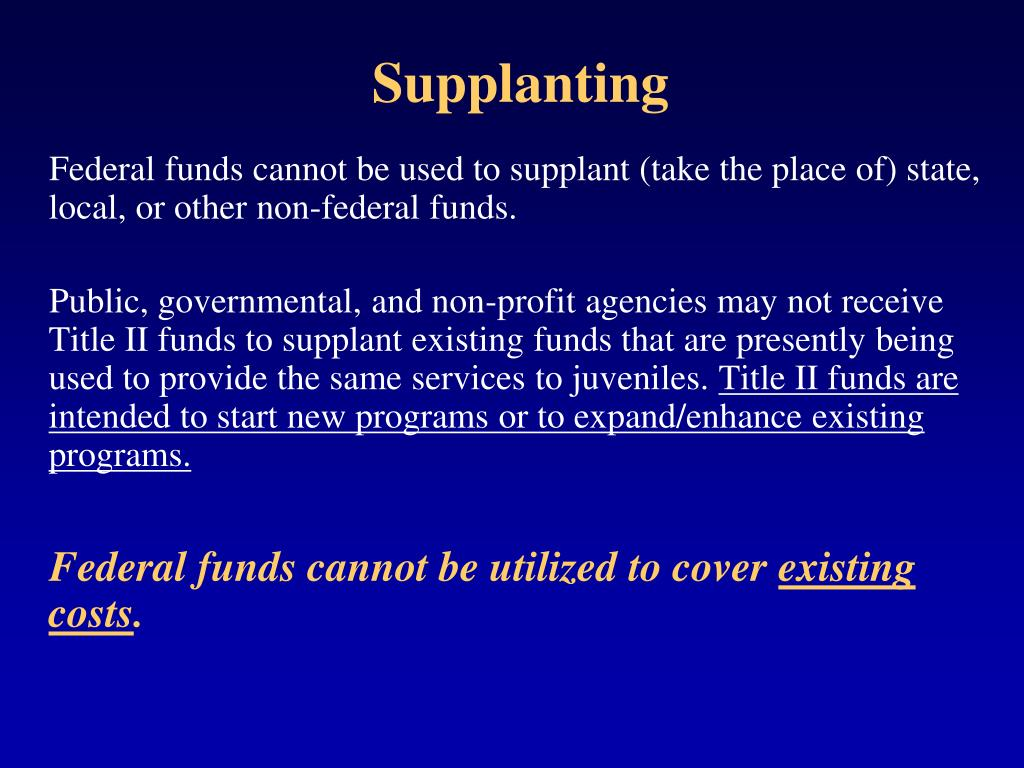 Supplanting