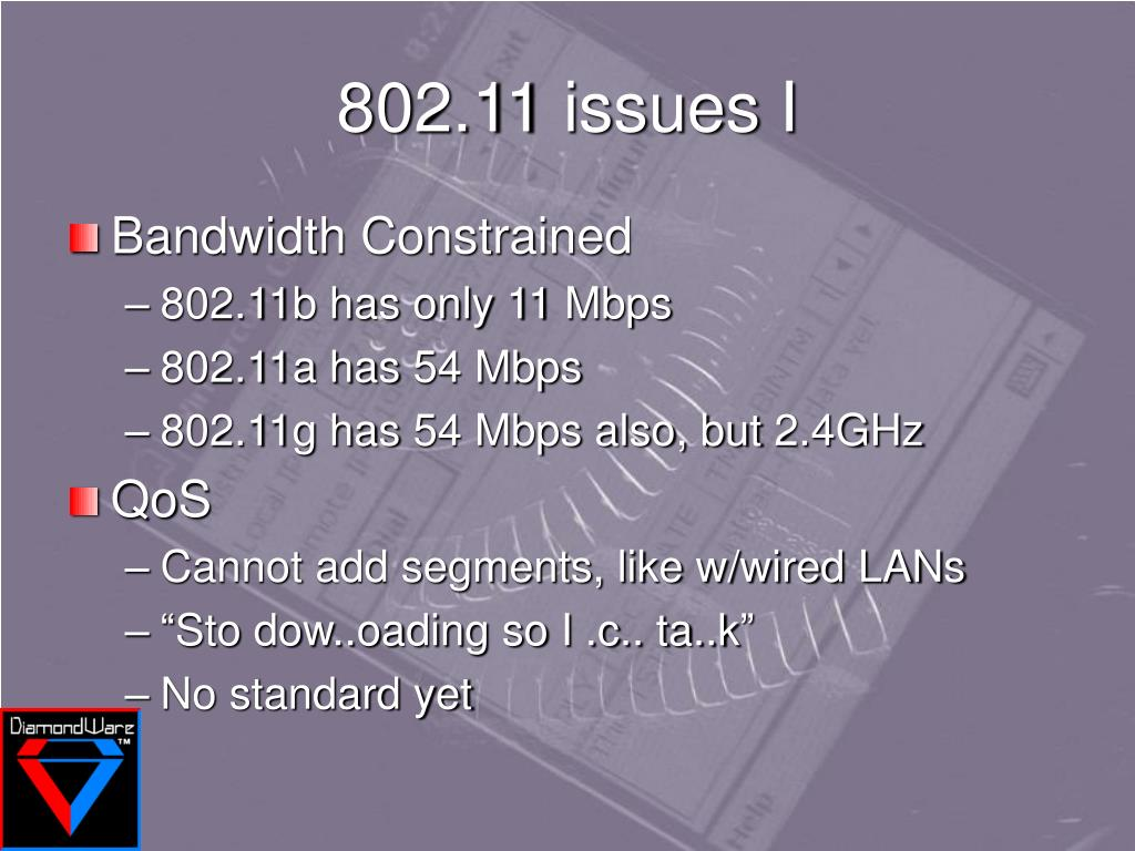 802.11 issues I