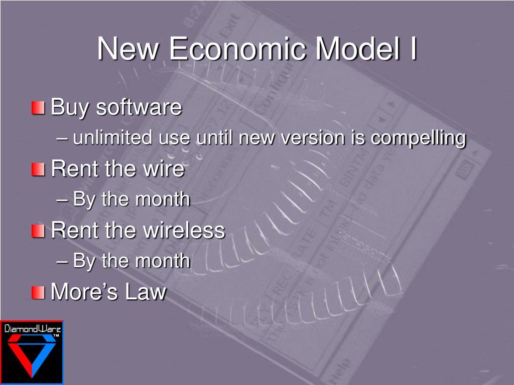 New Economic Model I