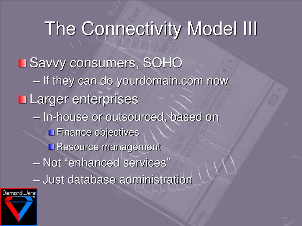 The Connectivity Model III