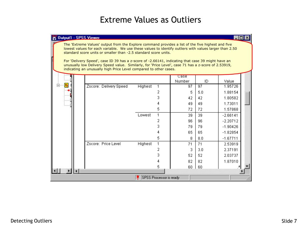 Extreme Values as Outliers