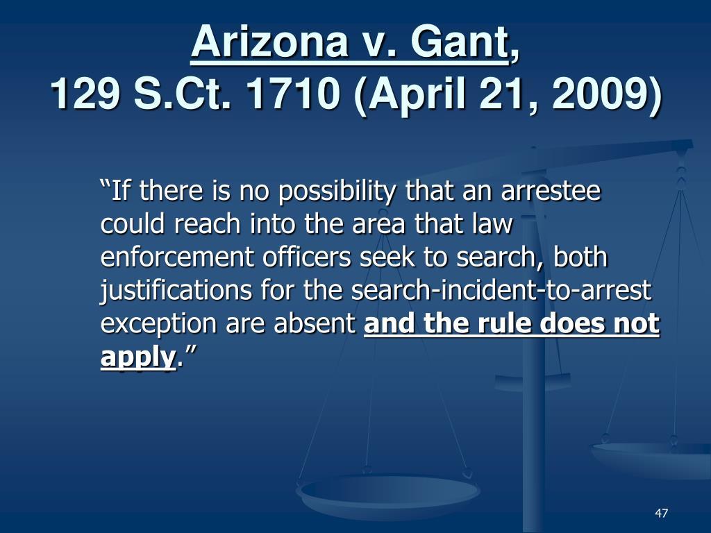 Arizona v. Gant