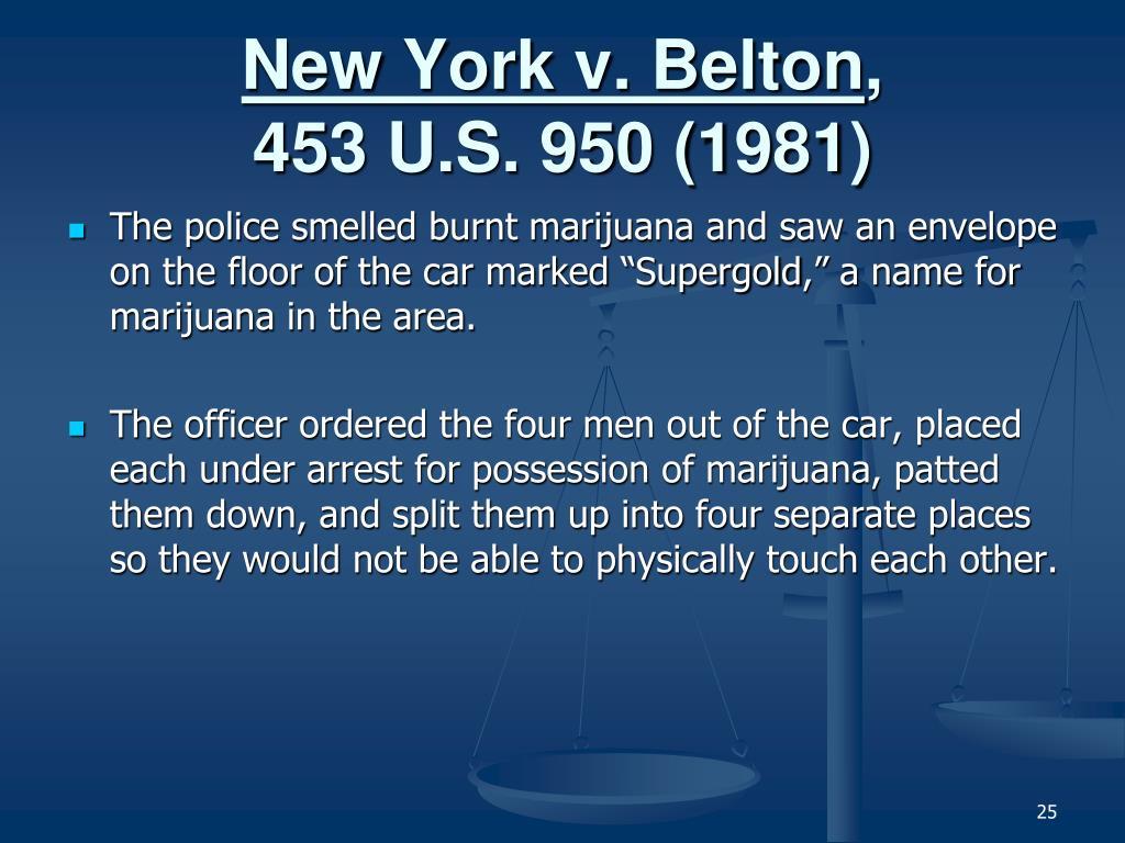 New York v. Belton