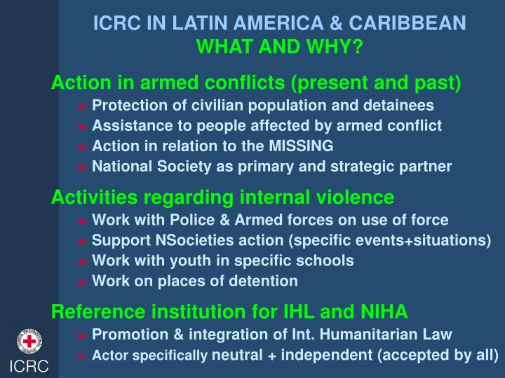 ICRC IN LATIN AMERICA & CARIBBEAN