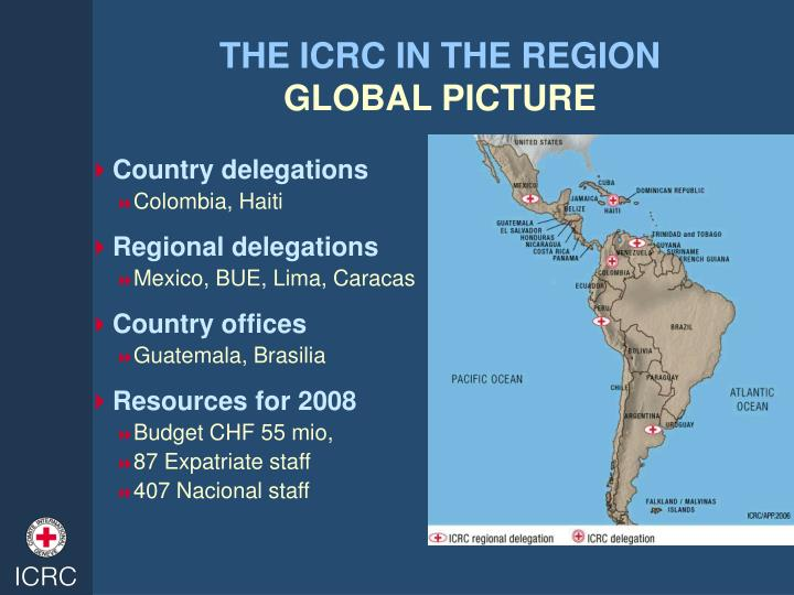 THE ICRC IN THE REGION