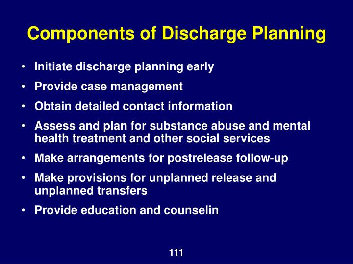 Components of Discharge Planning