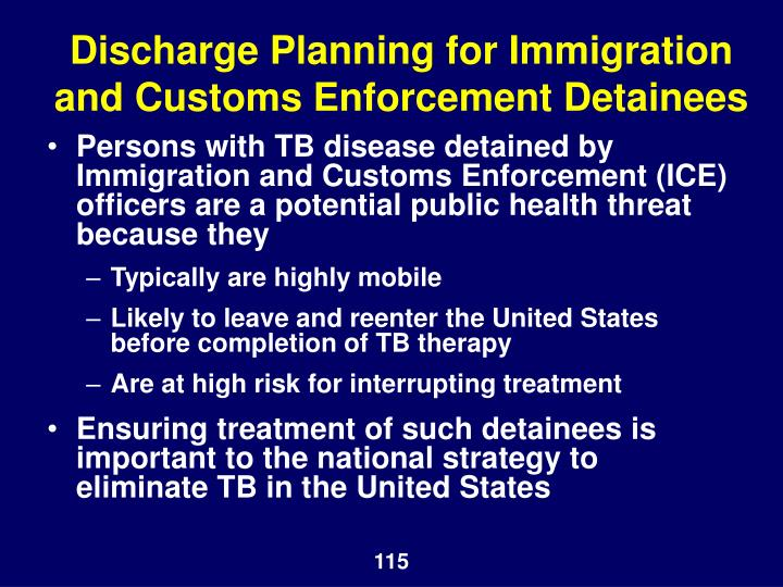 Discharge Planning for Immigration and Customs Enforcement Detainees