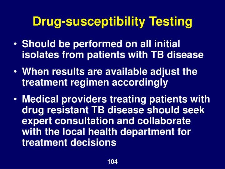 Drug-susceptibility Testing