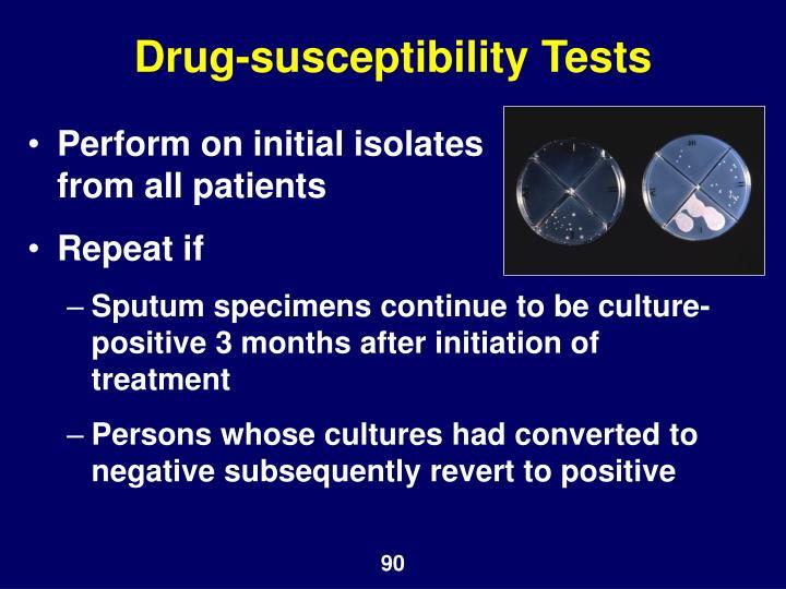 Drug-susceptibility Tests