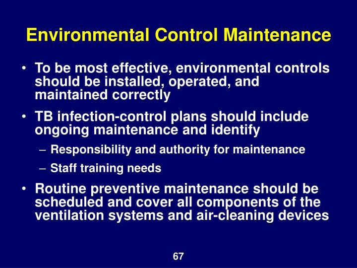 Environmental Control Maintenance