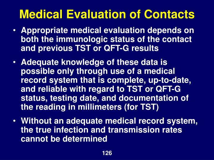 Medical Evaluation of Contacts