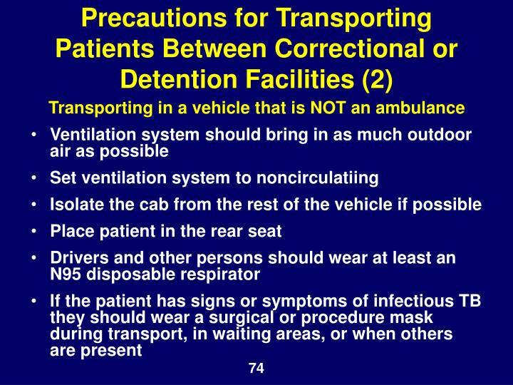 Precautions for Transporting Patients Between Correctional or Detention Facilities (2)