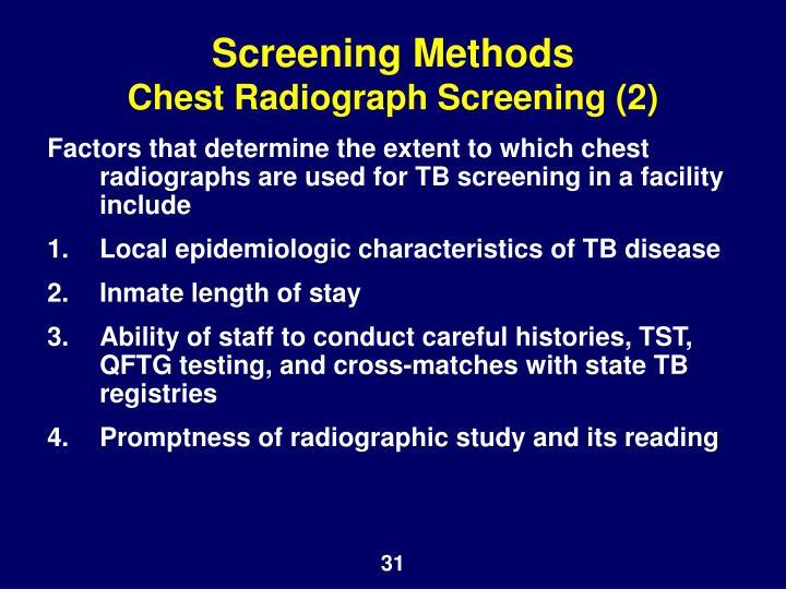 Screening Methods
