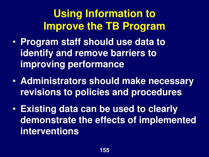 Using Information to