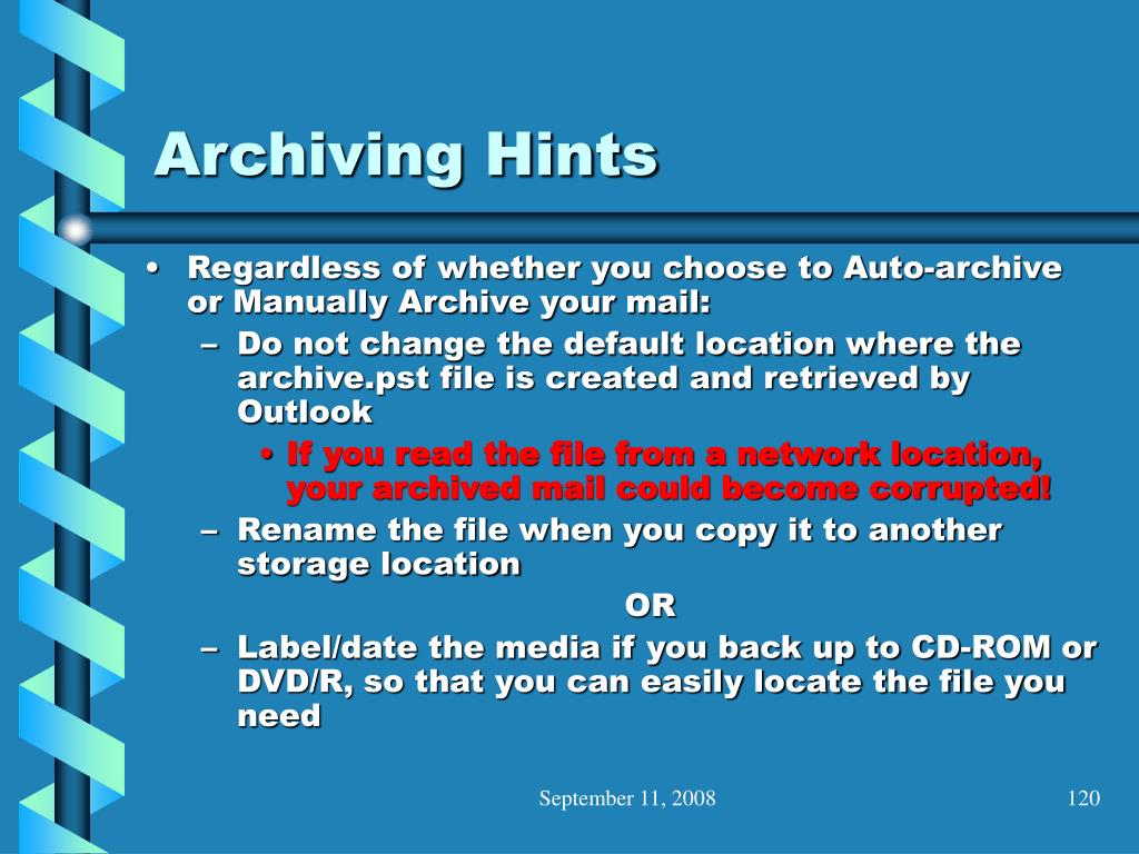 Archiving Hints