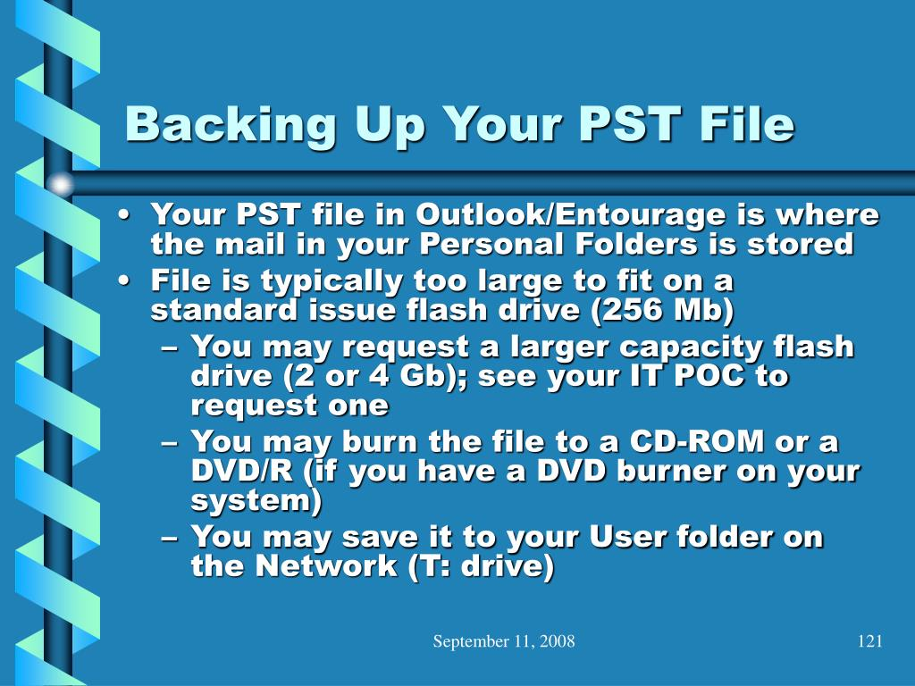 Backing Up Your PST File