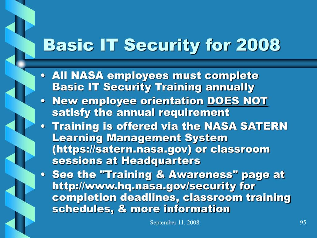 Basic IT Security for 2008