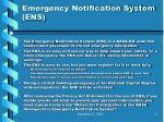 emergency notification system ens