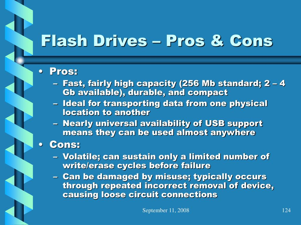 Flash Drives – Pros & Cons