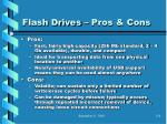 flash drives pros cons