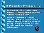 it prohibited practices cont