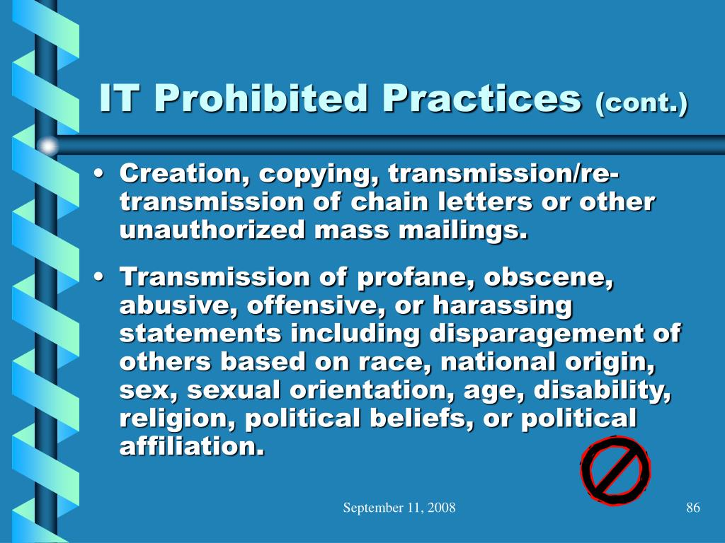 IT Prohibited Practices