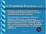 it prohibited practices cont75