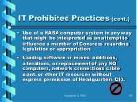 it prohibited practices cont78