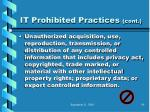 it prohibited practices cont79