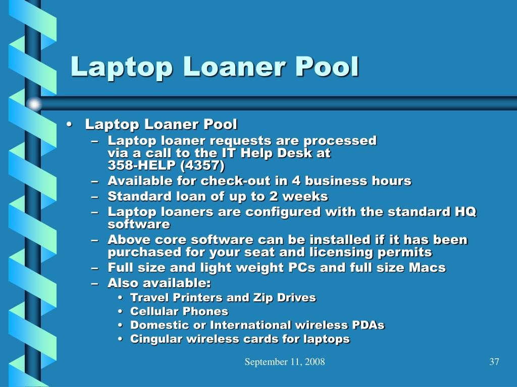 Laptop Loaner Pool