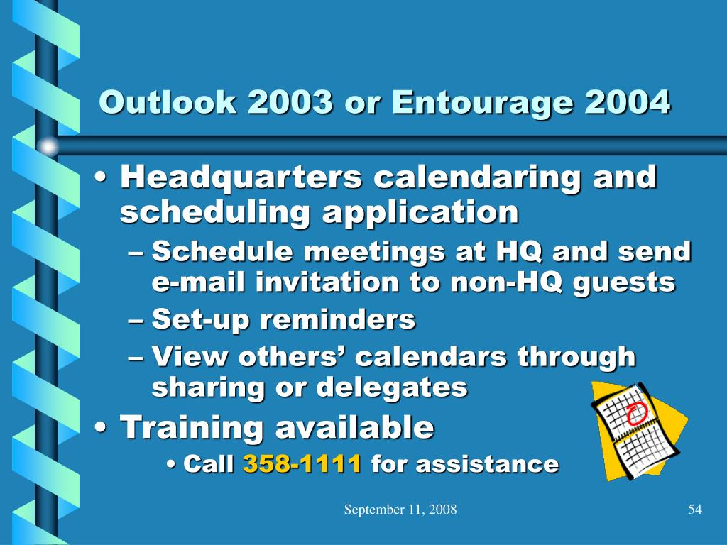 Outlook 2003 or Entourage 2004