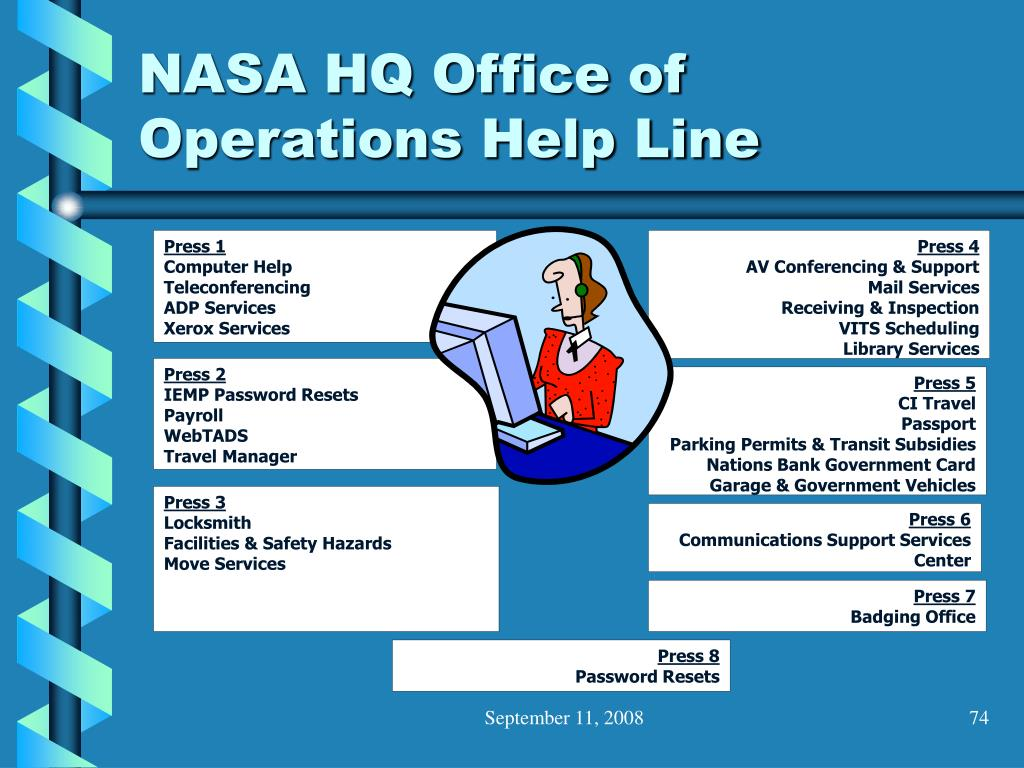 NASA HQ Office of Operations Help Line