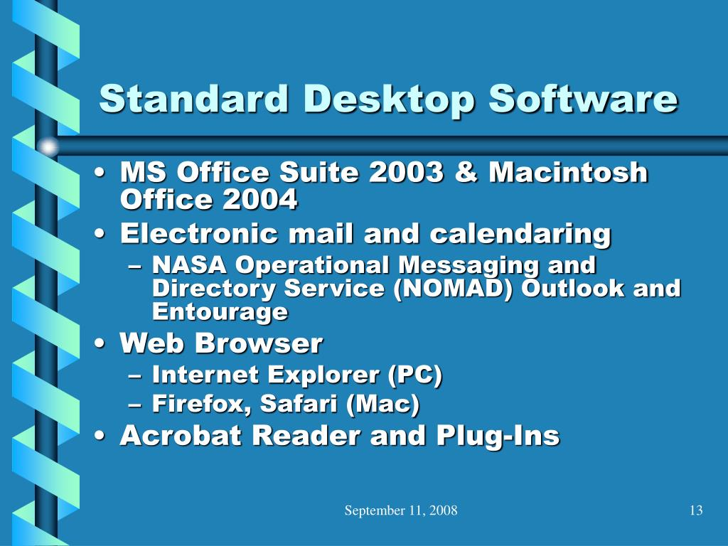 Standard Desktop Software