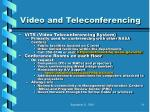 video and teleconferencing