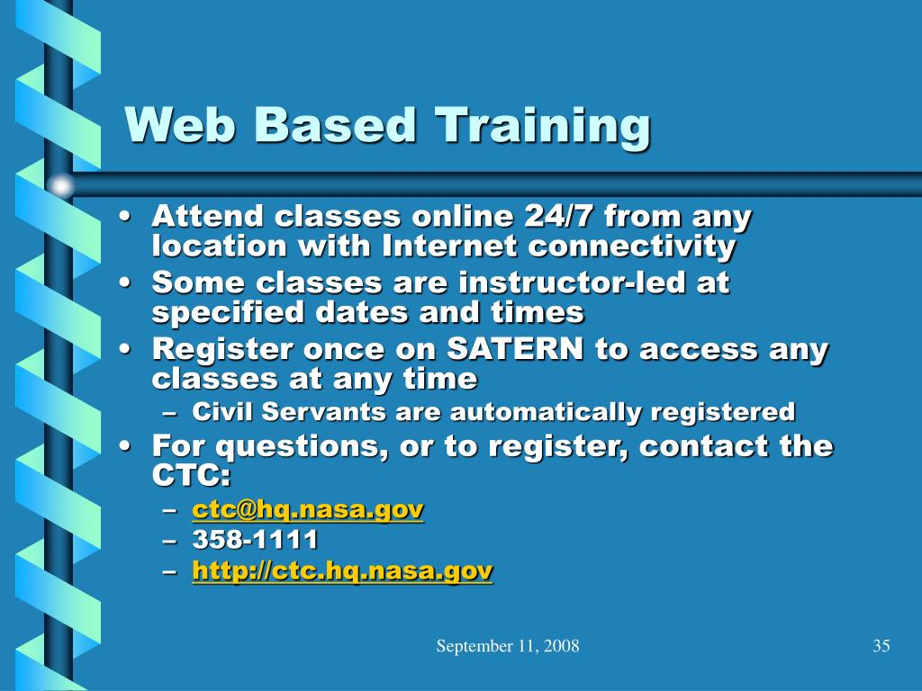 Web Based Training