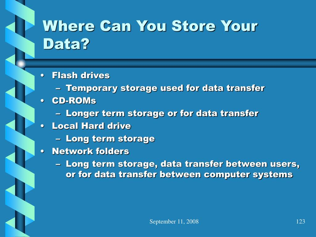 Where Can You Store Your Data?