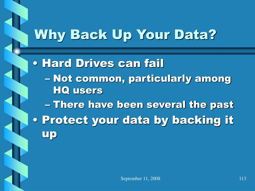Why Back Up Your Data?