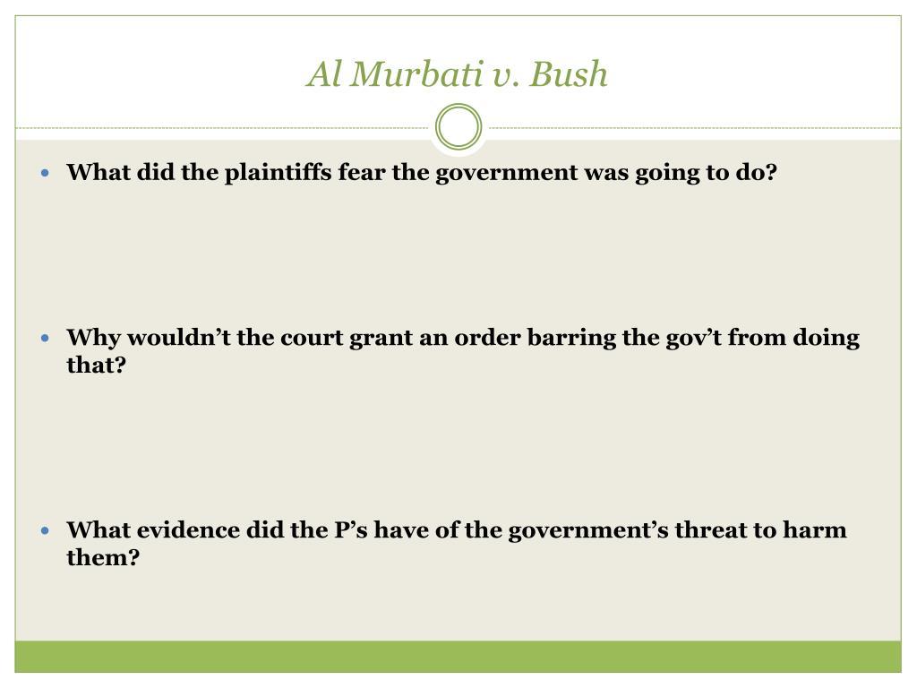 Al Murbati v. Bush