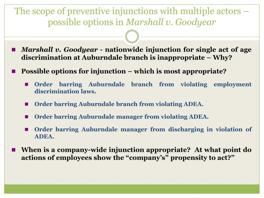 The scope of preventive injunctions with multiple actors – possible options in
