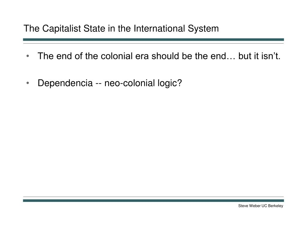 The Capitalist State in the International System