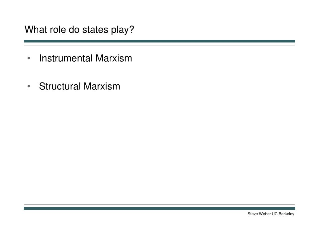 What role do states play?